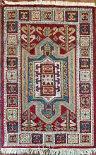 Semi-Antique Persian Prayer Rug:  37.6