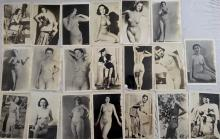 Twenty Two Early Nude Female Photography Collection, Nude & Semi-Clothed, Circa 1940's.  Dimension 5