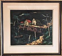 "Harry Shoulberg (American,b.1903-1995 ) ""The Bay"" Serigraph"