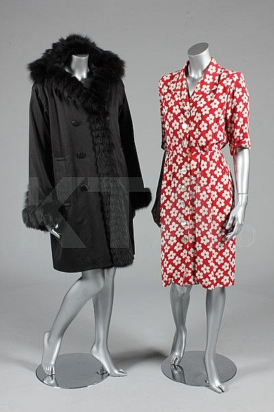 A group of Yves Saint Laurent clothing, mainly
