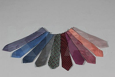 Hermès printed silk ties, mainly small scale
