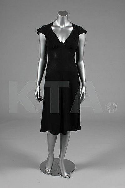 An Ossie Clark for Radley black moss crepe dress,