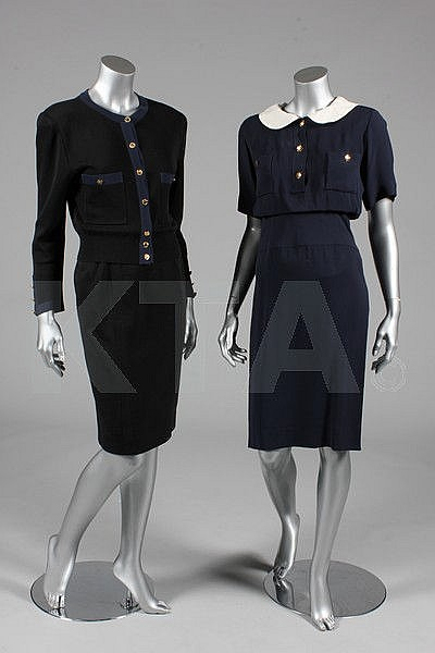 A Chanel navy dress, 1990s, boutique labelled and