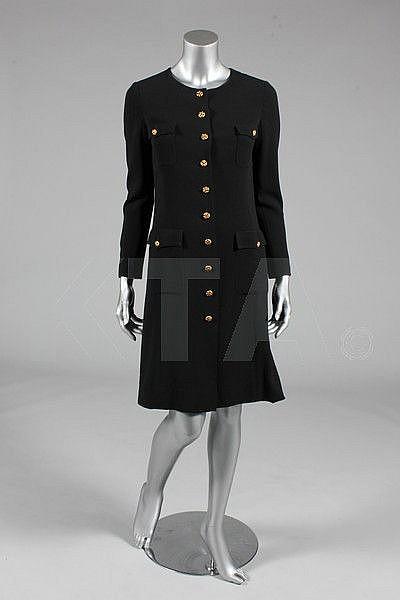 A Chanel black moss crepe dress, 1990s, boutique