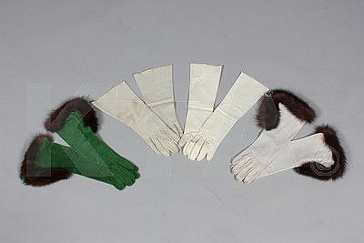 Four pairs of leather gloves, circa 1960,