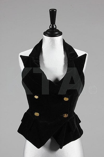 A Vivienne Westwood double breasted black velvet