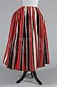 A striped homespun wool 'revolutionary' skirt,
