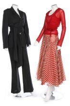 A group of Jean Paul Gaultier clothing, 1990s, including a black trouser su