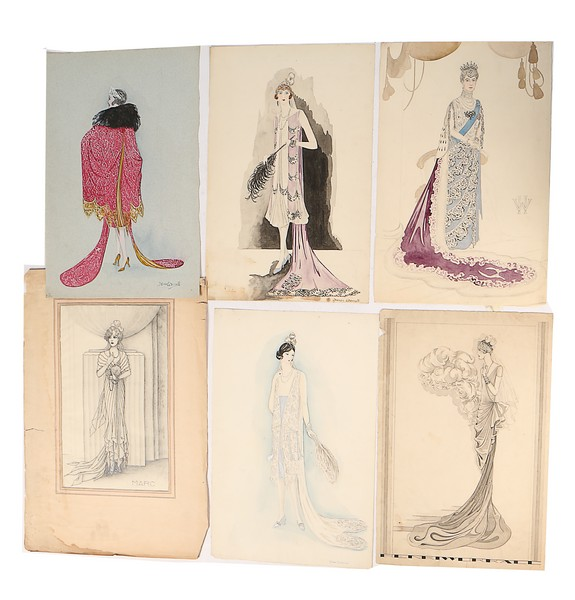 Henry Worrall Luker Fashion Sketches Mainly For Court Prese