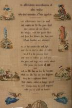 A group of samplers and commemorative textiles, mainly mid 19th century, in