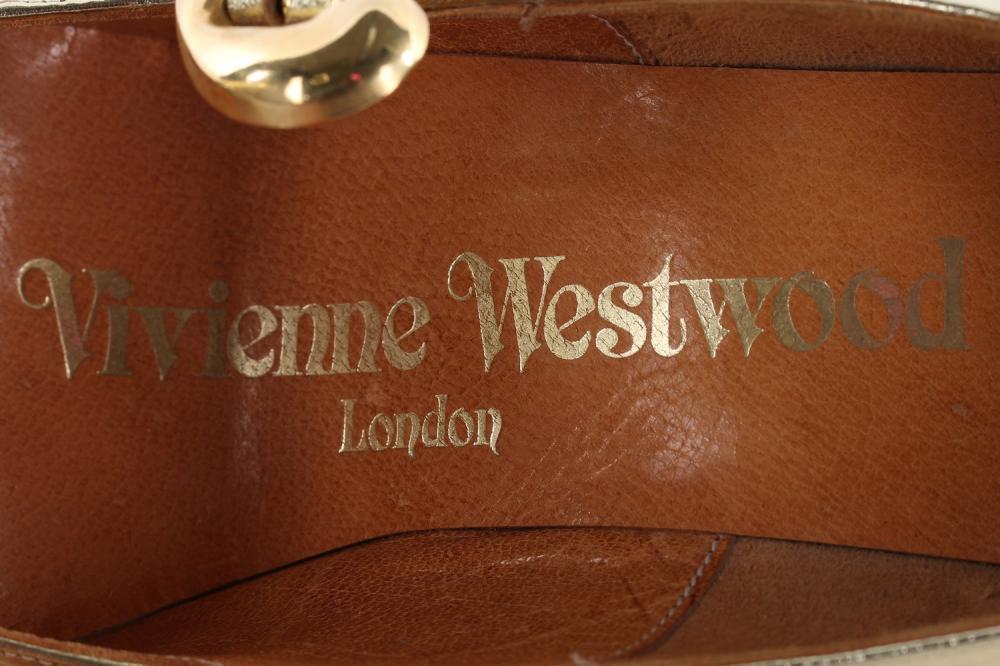 4d5d182722d A good pair of Vivienne Westwood gold leather elevated platform shoes