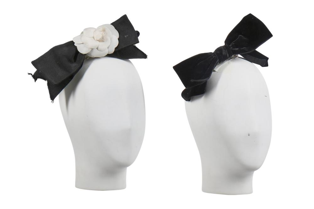 Two Chanel hair-bows with barrette clasps, 1980s,
