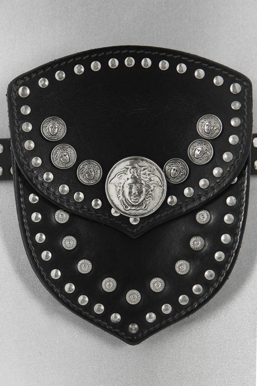 A Gianni Versace studded leather belt-bag, circa 1992,