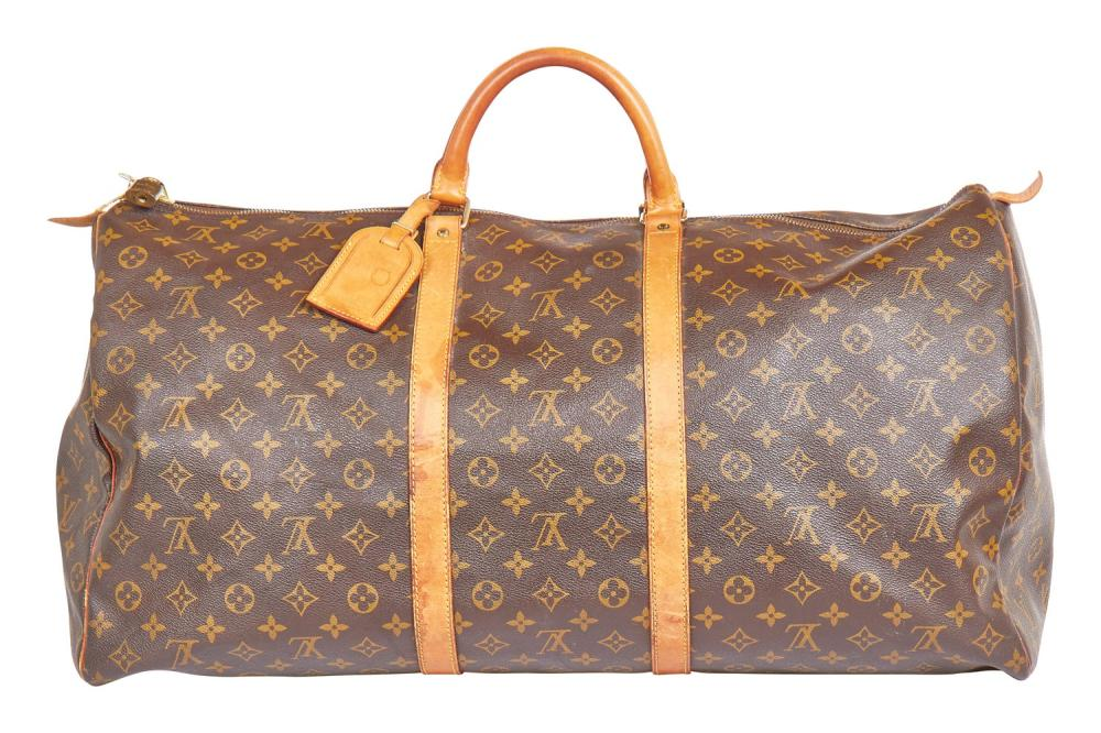 A Louis Vuitton monogrammed leather holdall, 1990s-2000s,
