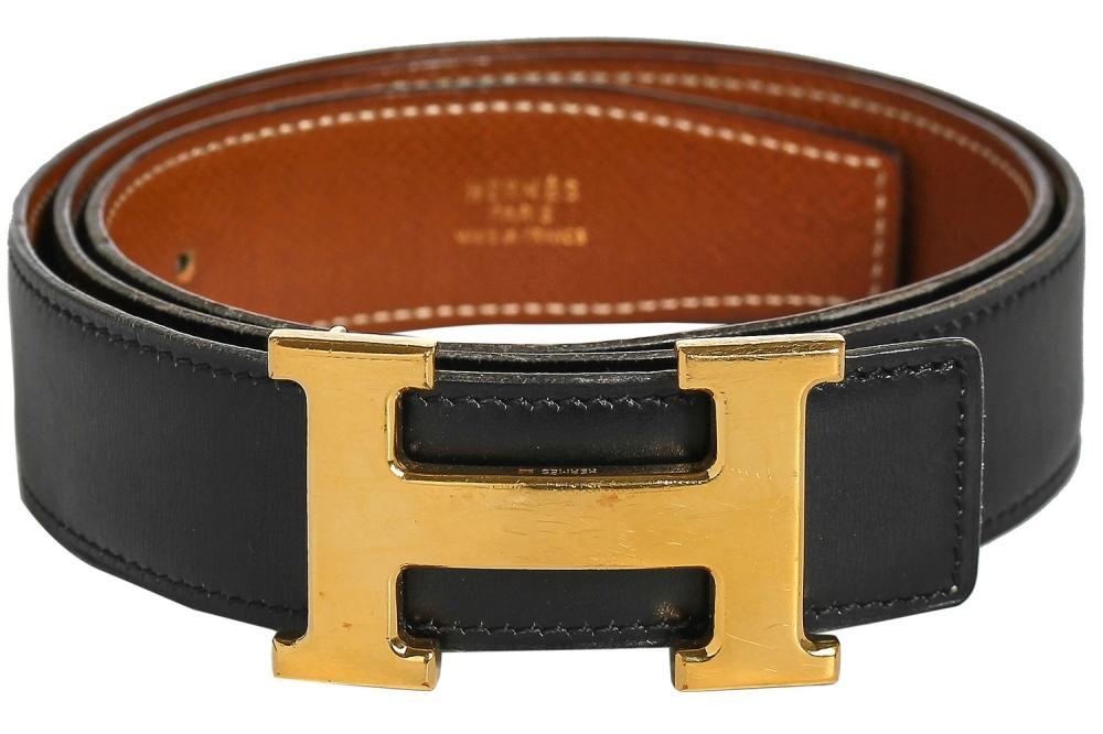 An Hermès reversible leather belt, 1990s,