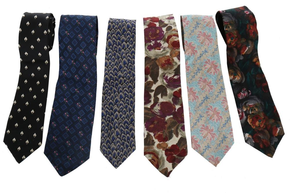 A large group of men's ties, mainly 1990s,