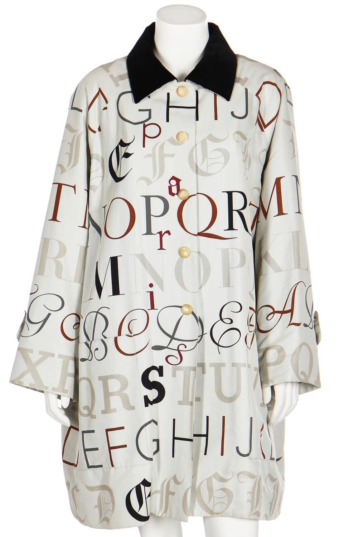 An Hermès silk-cotton coat, 1980s-early 90s,