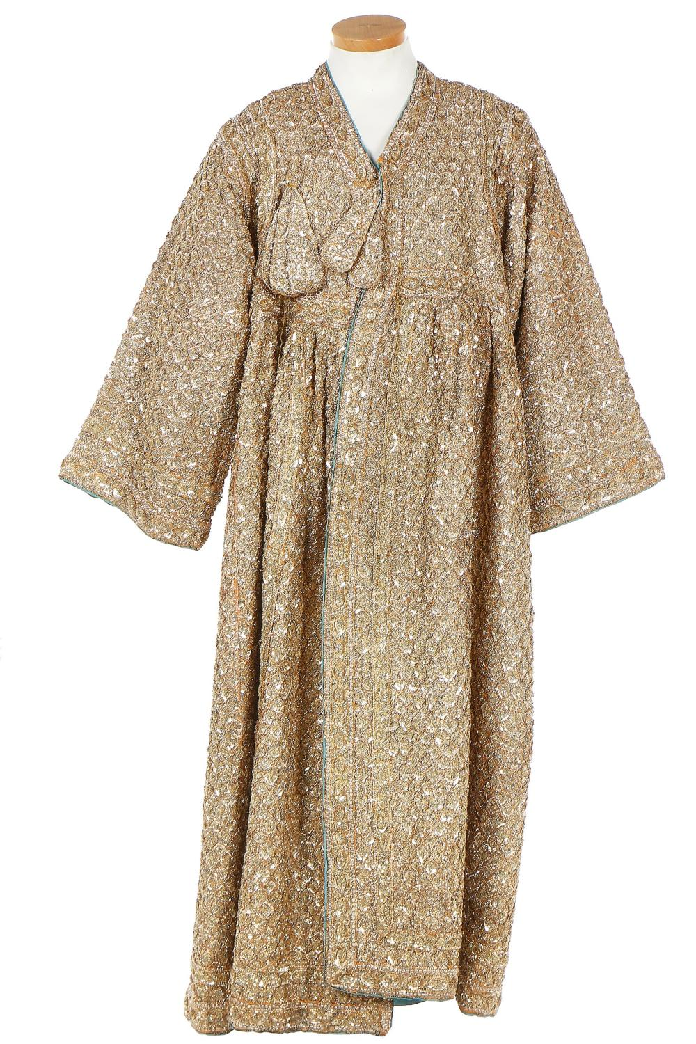 A man's gold sequinned wedding coat, Indian, probably 1950s,