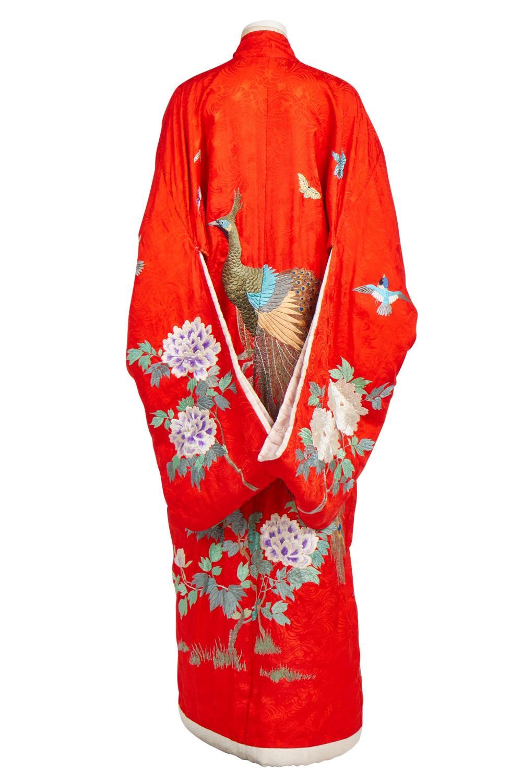 An embroidered wedding kimono, Japanese, 1930s,