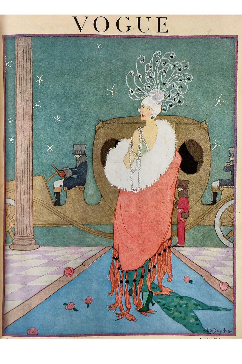 A rare and early bound volume of Vogue, Continental version, 1918, complete run,