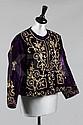 An embroidered purple velvet jacket, Ottoman, late