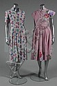 Five printed cotton summer dress, late 1940s and