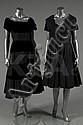 A Nina Ricci black taffeta dinner gown, mid 1950s,