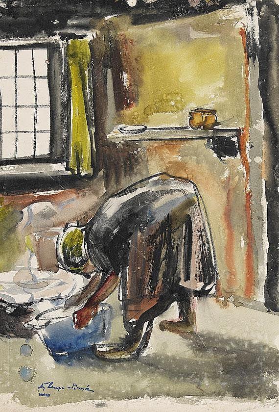 August Lange-Brock(1891 Hamburg - 1979 Hamburg).