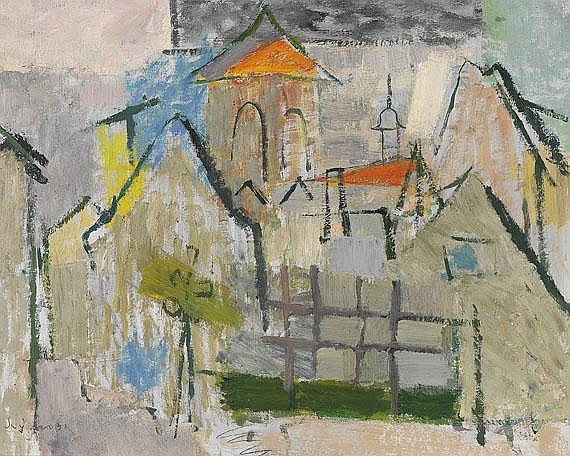 Hans Szym(1893 Berlin - 1961 Berlin). Dorfansicht.