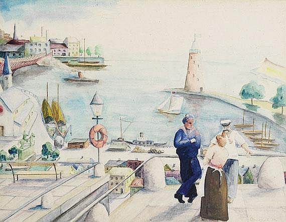 Otto Nückel(1888 Köln - 1956 Köln). Matrosen in