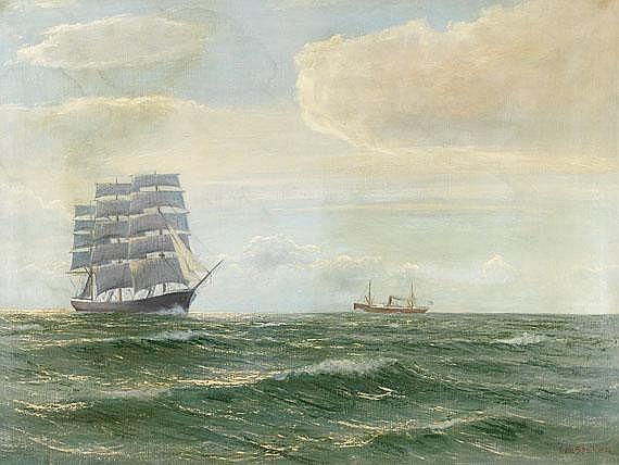 Franz Schaffner (1876 Hamburg - 1935 ). Vollschiff