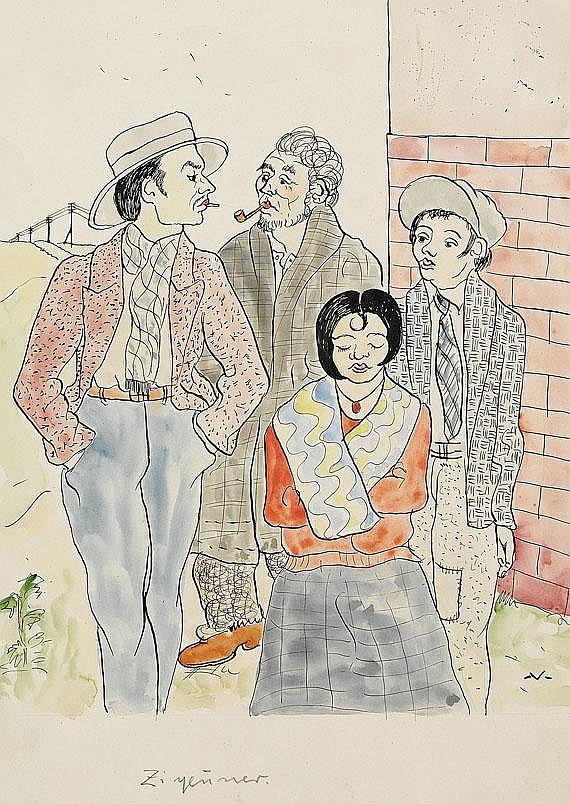 Bruno Voigt(1912 Gotha - 1988 Berlin). Zigeuner.