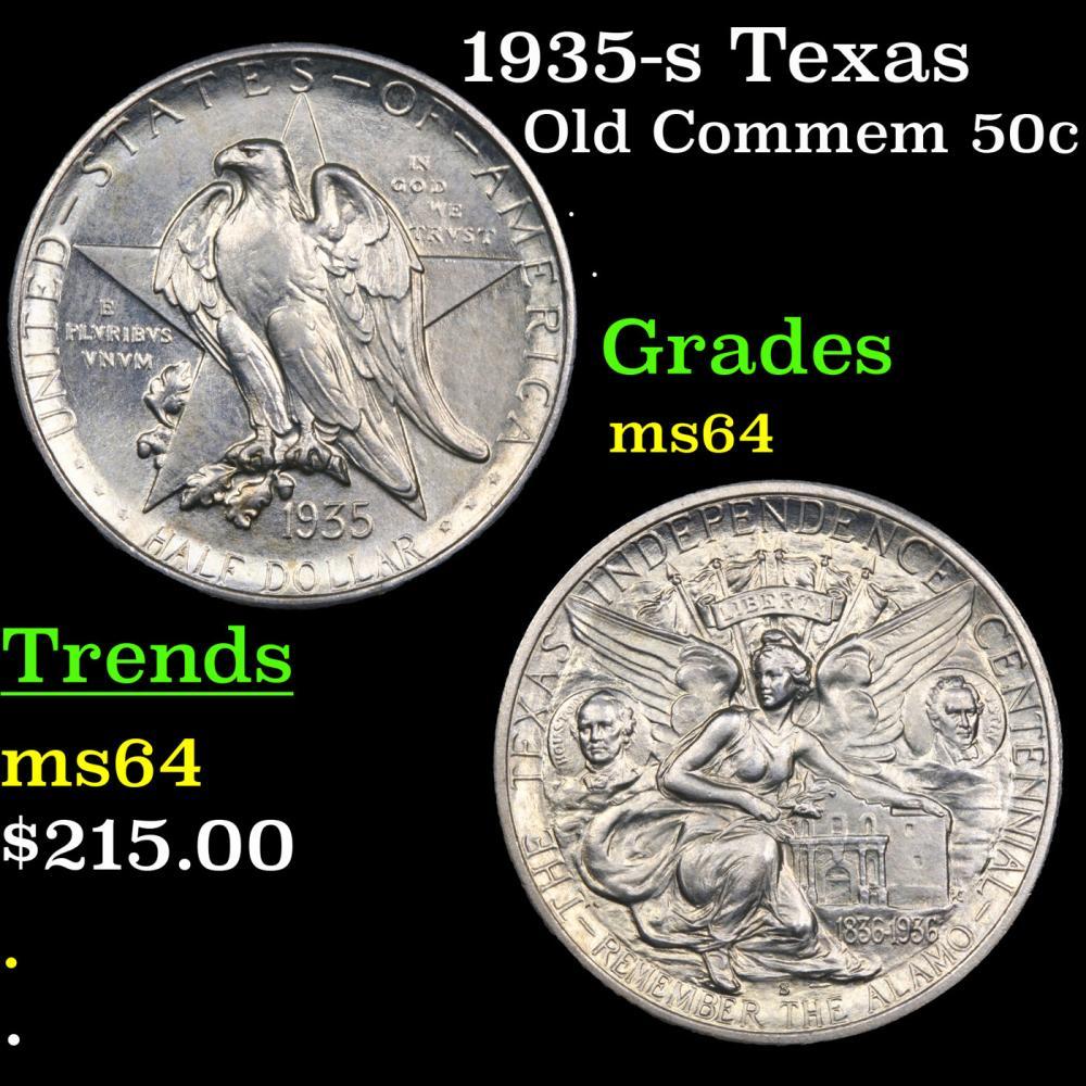 1935-s Texas Old Commem Half Dollar 50c Grades Choice Unc