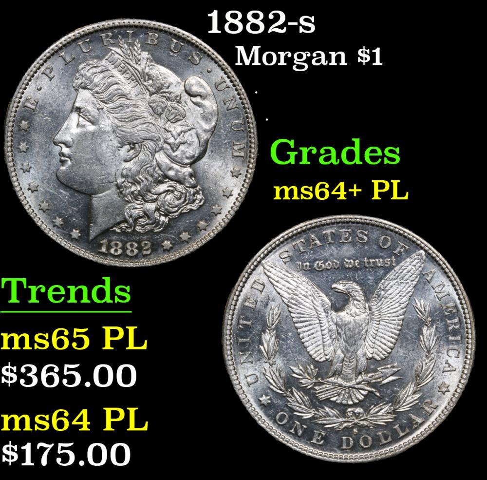 1882-s . . Morgan Dollar $1 Grades Choice Unc+ PL