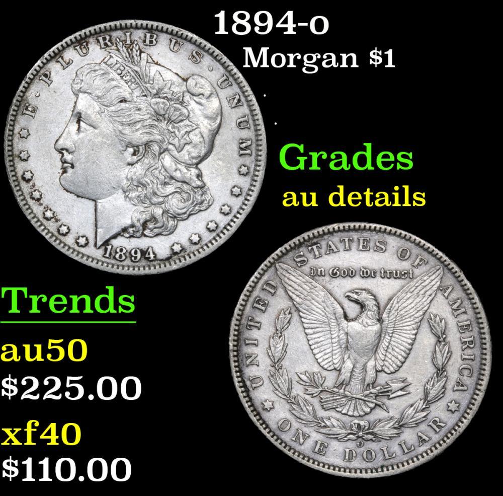 1894-o . . Morgan Dollar $1 Grades AU Details