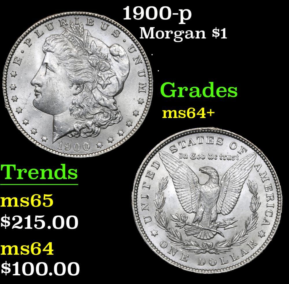 1900-p . . Morgan Dollar $1 Grades Choice+ Unc