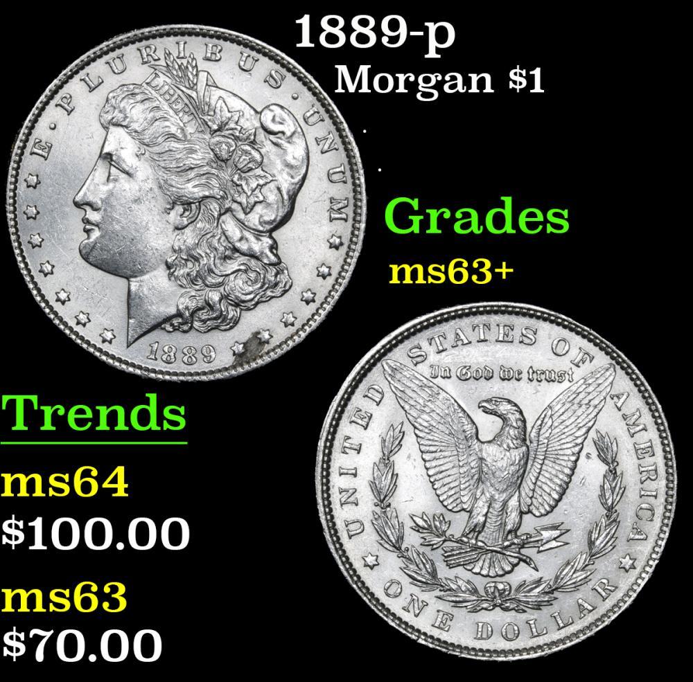 1889-p . . Morgan Dollar $1 Grades Select+ Unc