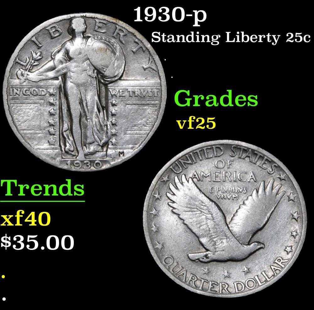1930-p . . Standing Liberty Quarter 25c Grades vf+