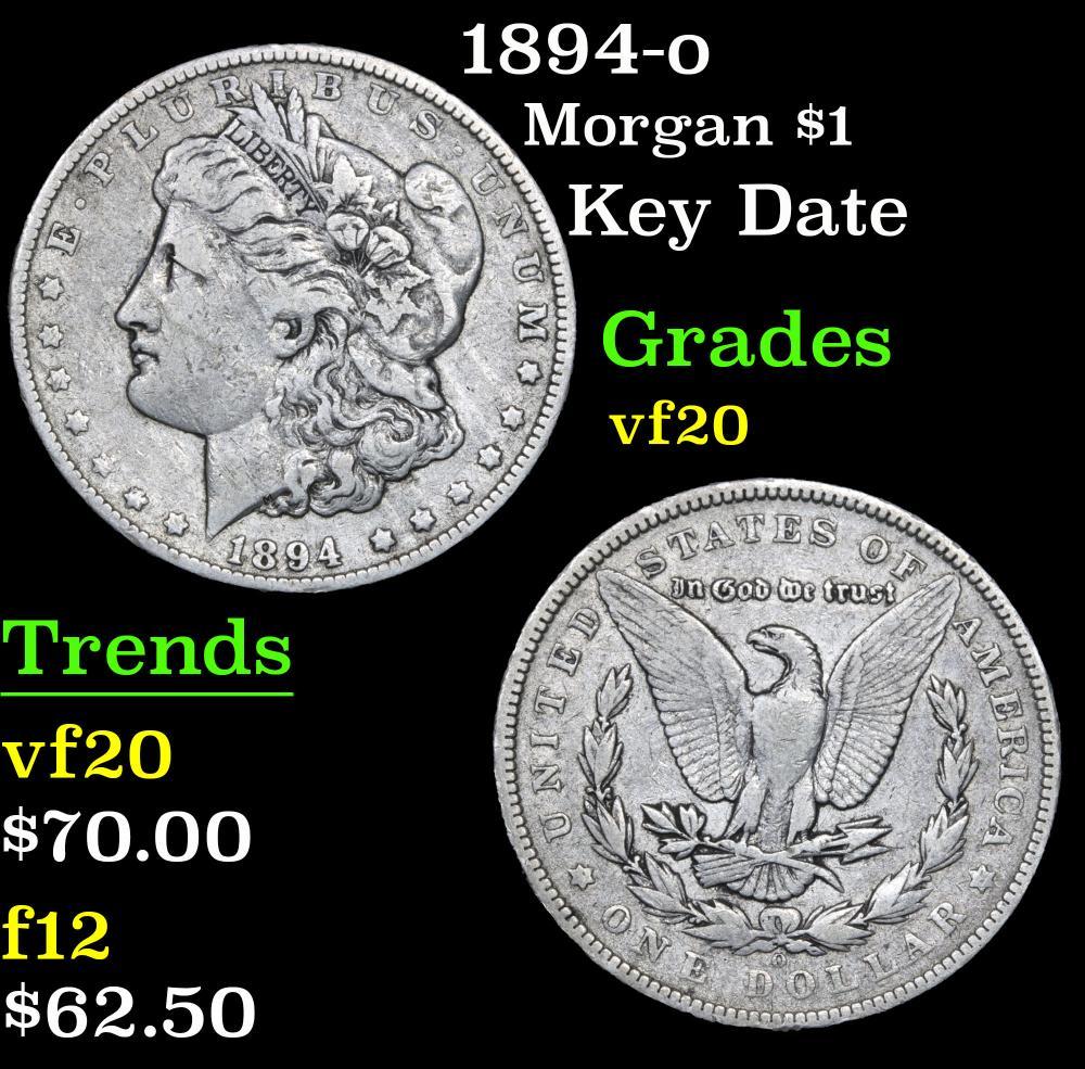1894-o Key Date . Morgan Dollar $1 Grades vf, very fine