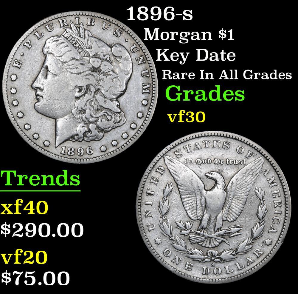 1896-s Key Date Rare in all grades Morgan Dollar $1 Grades vf++