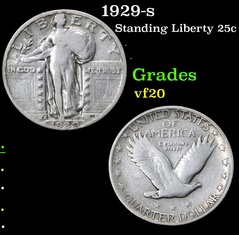1929-s . . Standing Liberty Quarter 25c Grades vf, very fine