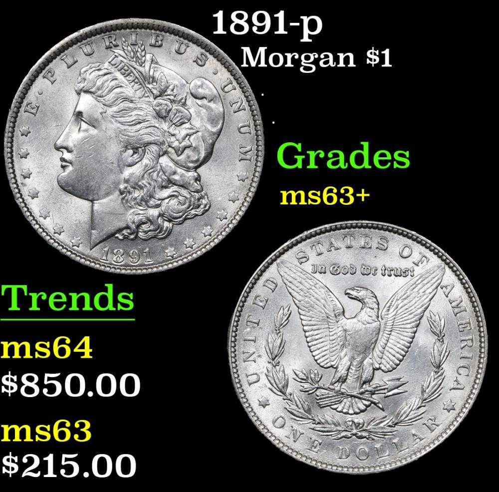 1891-p . . Morgan Dollar $1 Grades Select+ Unc