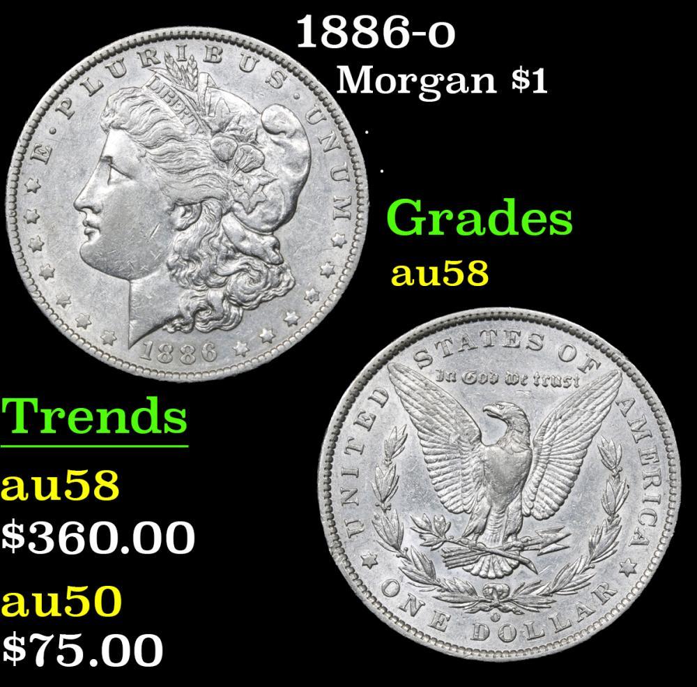 1886-o . . Morgan Dollar $1 Grades Choice AU/BU Slider