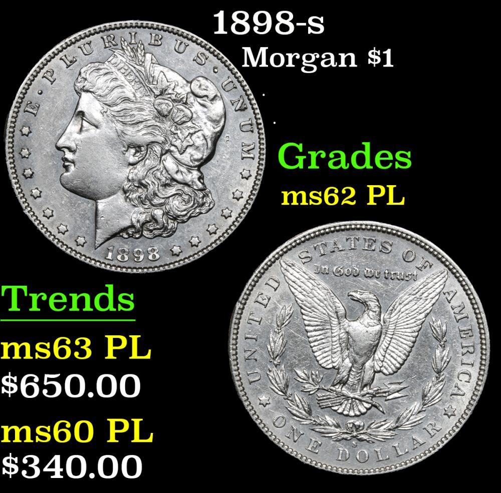 1898-s . . Morgan Dollar $1 Grades Select Unc PL