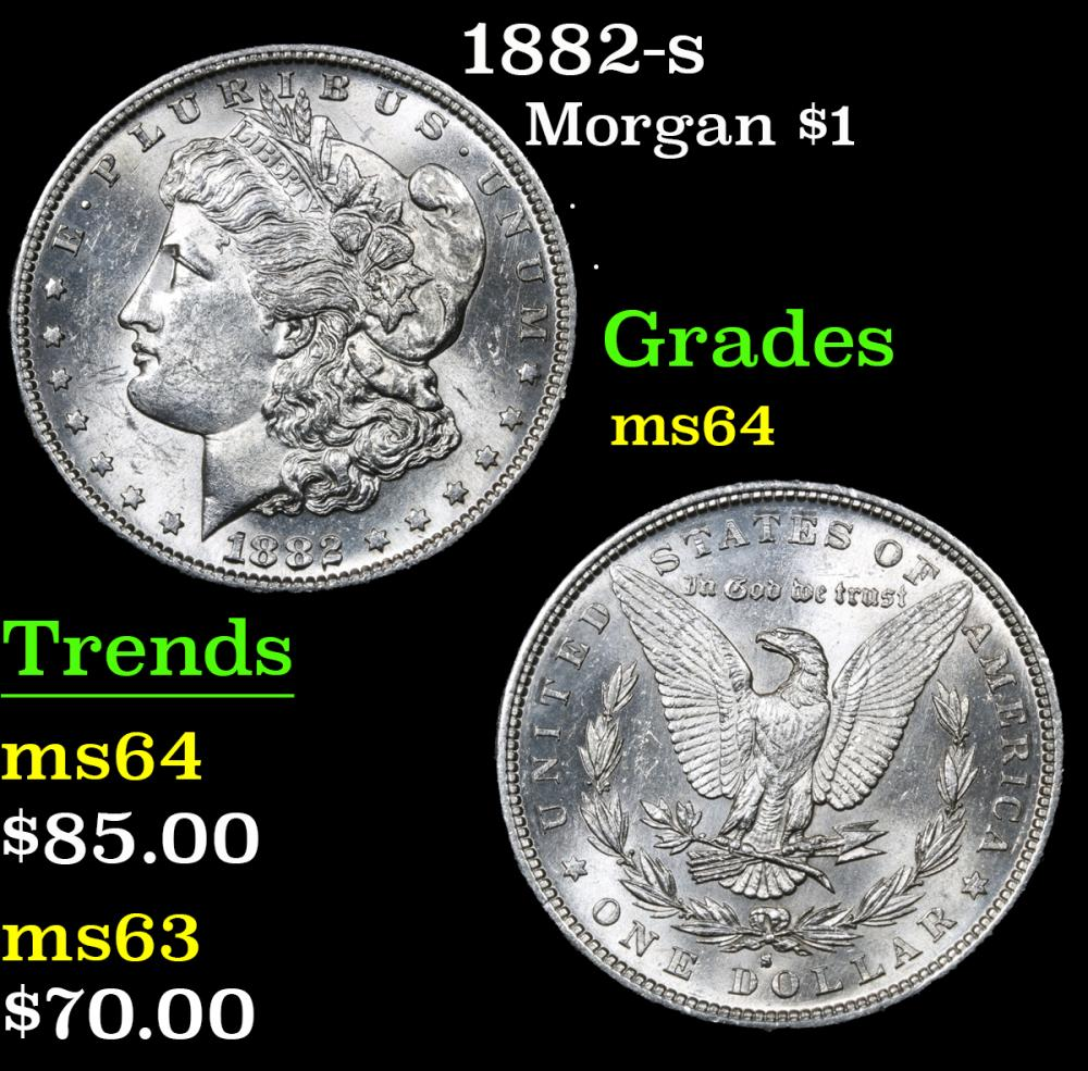 1882-s . . Morgan Dollar $1 Grades Choice Unc