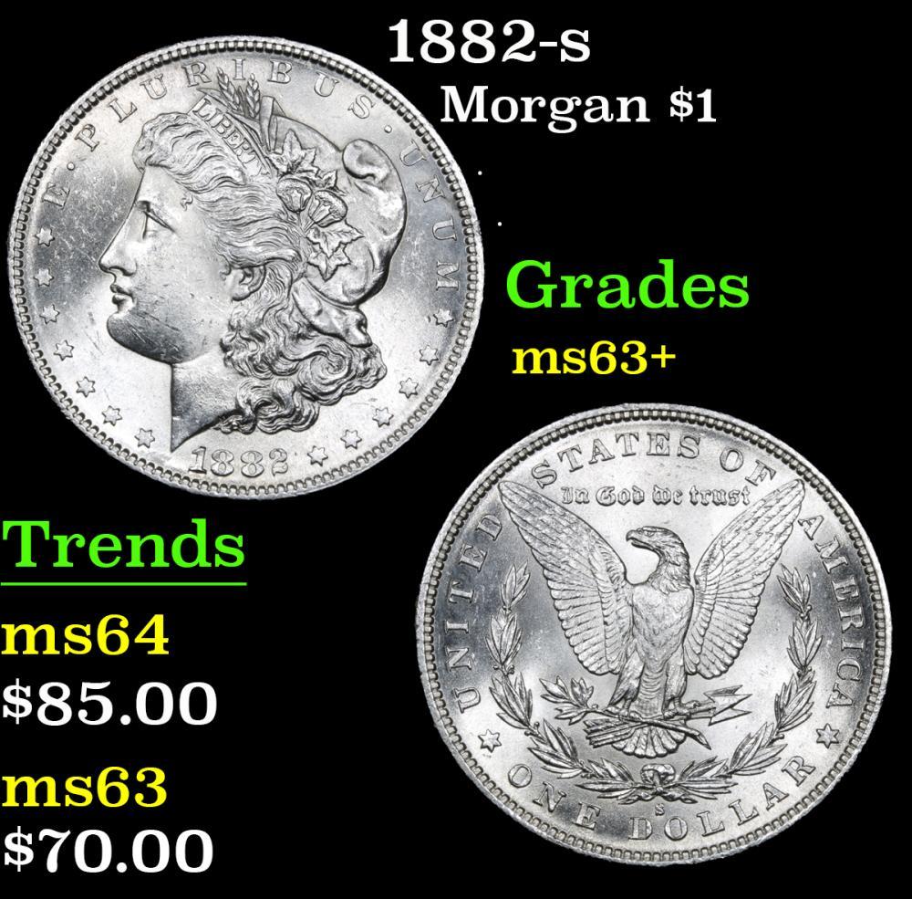 1882-s . . Morgan Dollar $1 Grades Select+ Unc
