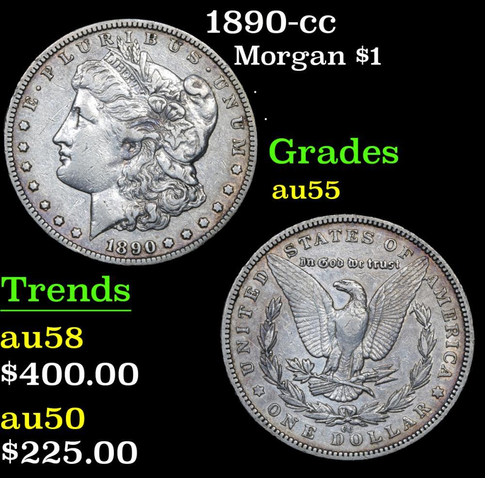 1890-cc . . Morgan Dollar $1 Grades Choice AU