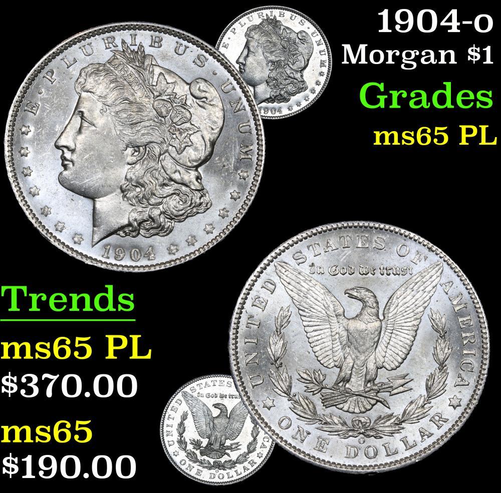 1904-o . . Morgan Dollar $1 Grades GEM Unc PL