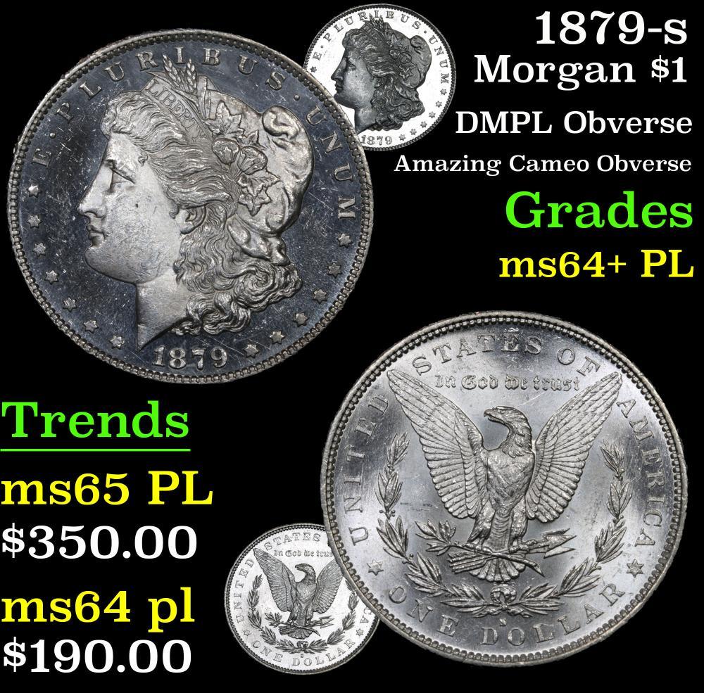1879-s DMPL Obverse Amazing Cameo Obverse Morgan Dollar $1 Grades Choice Unc+ PL