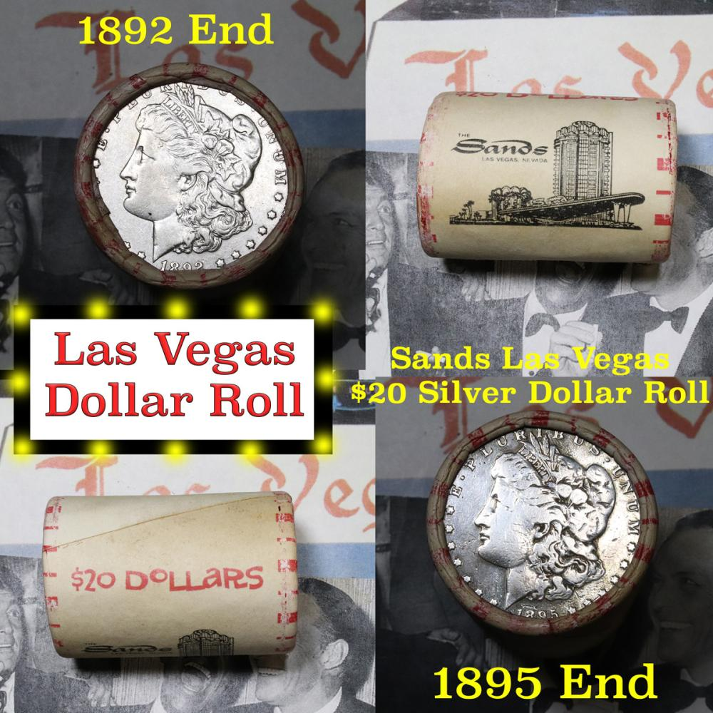 100 MORGAN EISENHOWER DOLLAR COIN  FLAT WRAPPERS NEW